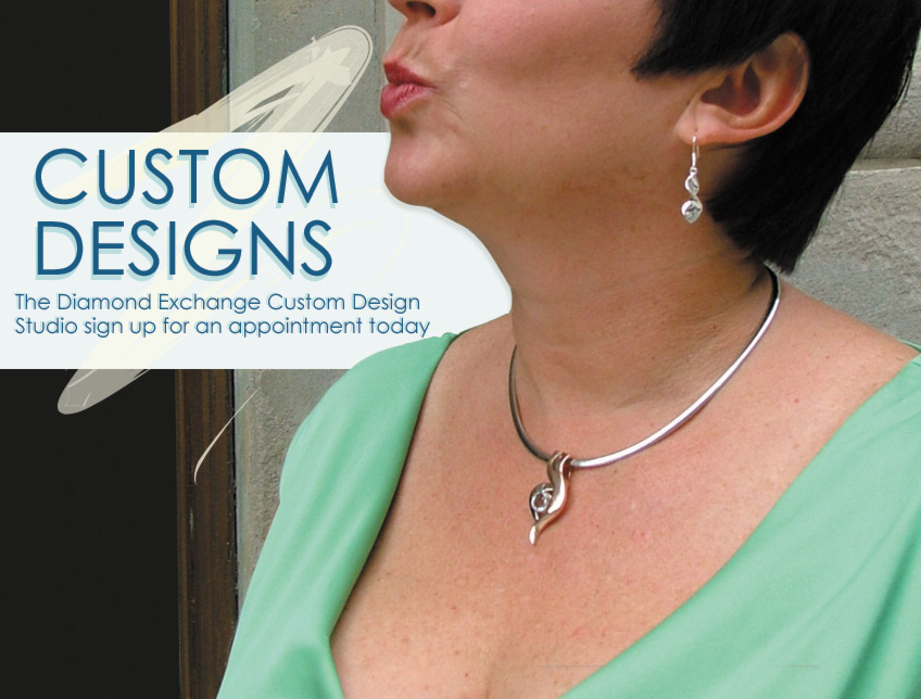The Diamond Exchange Custom Design Studio sign up for an appointment today